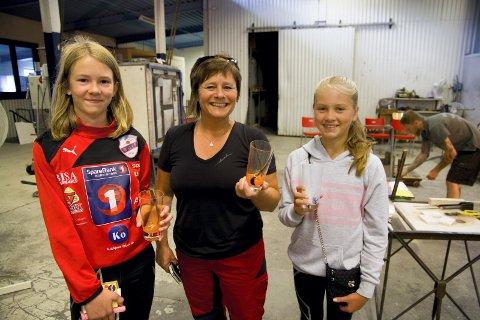 Fornøyde: Birte Dragvik (t.v.), Carol Rasmussen og Kristine Vindheim Andersen er fornøyde med resultatet fra gårsdagens økt.