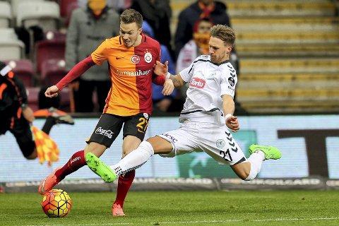 Vant: Martin Linnes spilte hele kampen da Galatasaray slo Besiktas.