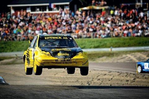 HJEMMEBANE: Herbjørn Haug skal for første gang på sju år vise seg fram på hjemmebane på Velta. Lørdag går startskuddet for den tredje NM-runden i rallycross på Finnskogen.
