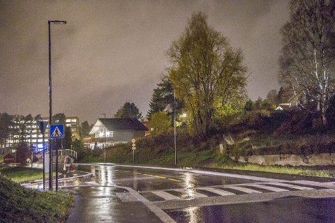 UTEN LYS: Nye Eidems gate har vært uten lys siden den ble åpnet for to måneder siden.