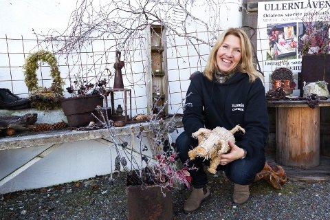 KLAR FOR HELAFTEN: Cathrine Gjems Krogstad og Ullernlåven vant budrunden om Slobrua Gjestegårds kjøkkensjef.