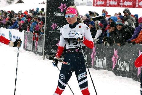 IMPONERTE: Amalie Håkonsen Ous ble nummer to i sprint-finalen under norgescupen på Gålå lørdag formiddag.