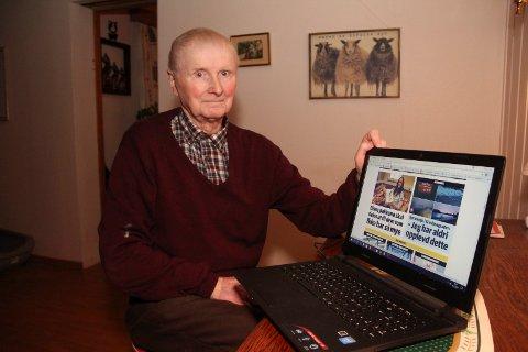 LÆREVILLIG: Odd Ivar Hemstad (80) vil lære mer om data, noe som derimot ikke er så lett.
