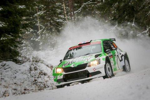 Ole Christian Veiby på Hof-Finnskog-etappen fredag morgen.