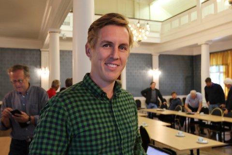 FORNØYD: Kristian Botten Pedersen.