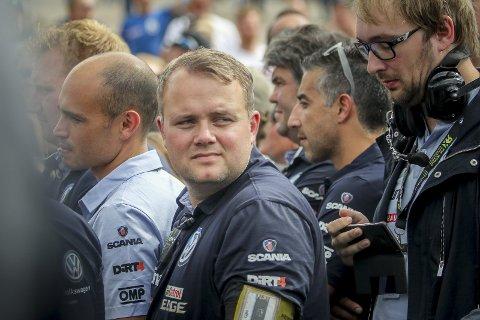 SJEFEN SJØL: Ole Johan Rustad har ansvaret for bilen som leder VM enn så lenge for både førere og team i rallycross.