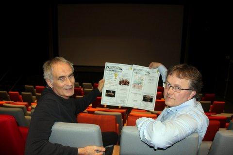 FOLKESKIKK: Kinosjef Odd Skramstad og virksomhetsleder Barne Grimstad er stolte av det nye kulturhuset på Flisa. Uro i kinoen ødelegger folks opplevelse, og nå vil kinosjefen ha ro.