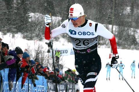 STOR OPPTUR: Joachim Aurland kapret en meget sterk femteplass på sprinten i Piteå.