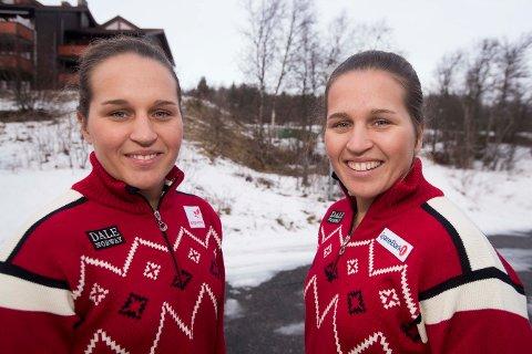 TIL FINLAND: Lotta (t.v.) og Tiril Udnes Weng får begge gå verdenscup for Norge i Ruka til helga.