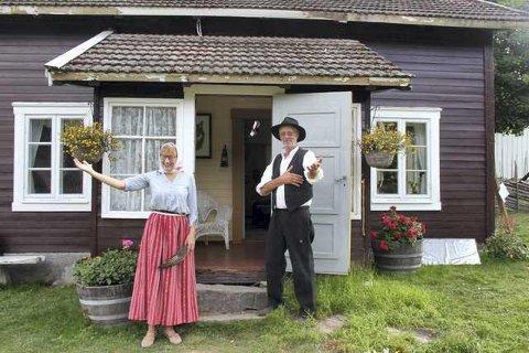 FARMEN: Eli Furuberg og Kjell Skaraberget som mentor-paret i Farmen, sørget for at Grue fikk mye god pr på TV.