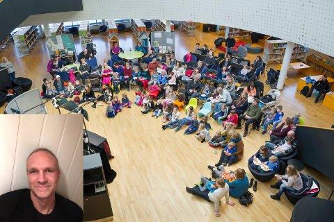 KONSERT FOR ALLE: – Jeg ønsker å gi folk en rolig og behagelig stund i advent, sier Espen Thorstensen (innfelt). Hans aller første julekonsert er nå onsdag kveld i Kongsvinger bibliotek. Neste onsdag gjentas konserten i Bøndernes Hus på Skotterud