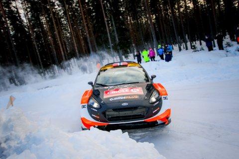 VANT: Mads Østberg tok en oppskriftsmessig totalseier i Rally Finnskog.