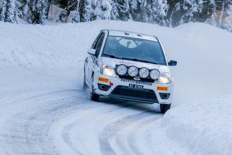 TILBAKE: Steve Røkland var tilbake i manesjen og ble raskeste tohjulsdrevne rallybil.
