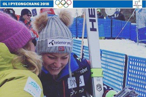 – Det er helt rått. Ragnhild er blant verdens beste i en av de største idrettene, sier Christine. I januar dro hun til Cortina for å se Ragnhild kjøre renn og fikk gratulere i målområdet.