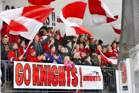 KLART OPPSETT: Knights får besøk fra Hamar i første serierunde.