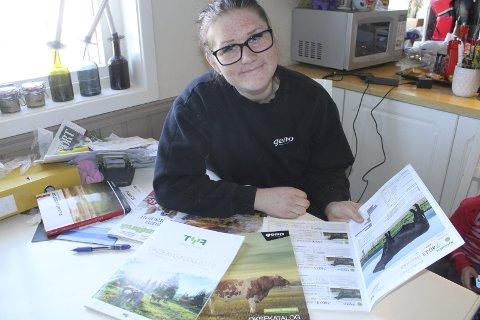 FAGKVELD: Marie Negård gleder seg til fagkveld om kvalitet på storfeproduksjon. Foto: Kenneth Mellem