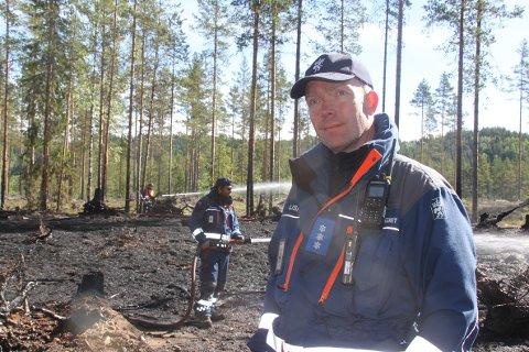 INNSATS: – Det er en stor innsats som blir gjort av tjenestepliktige mannskaper i Sivilforsvaret i Grue og Kongsvinger, sier Tommy Lismoen.