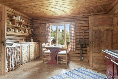 KJØKKEN: Det gamle kjøkkenet i den gamle delen av huset på Nedre Storberget.