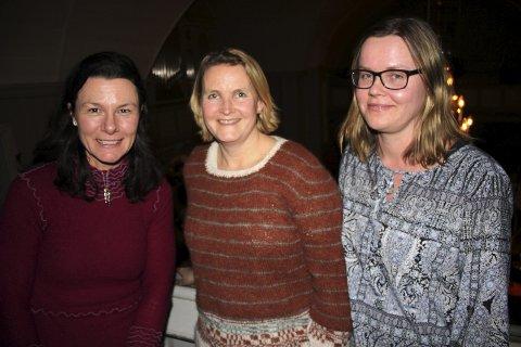 Bursdag: F.v. Berit Storbråten, Mona Takle og Hanne Høiby var ute og feiret bursdagen til Takle.