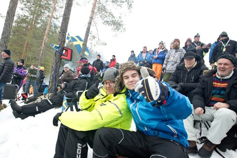 TIDLIG OPPE: Tony og Pontus Gottmarsson hadde reist hjemmefra klokken halv fem fra Hällefors.