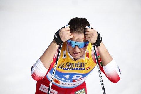 Seefeld, Østerrike 20190221. Lotta Udnes Weng i mål etter prologen i kvinnenes sprint i ski-VM i Seefeld. Foto: Terje Pedersen / NTB scanpix