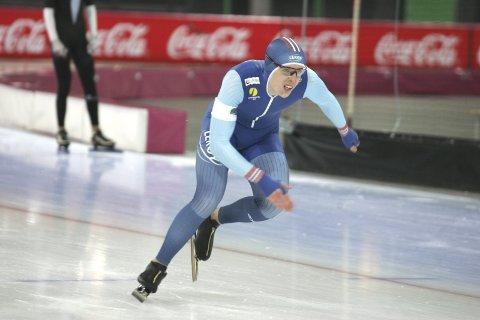 NÆR JUNIORVERDENSREKORDEN: Hallgeir Engebråten satte personlig rekord med over fem sekunder på 3000 meter.