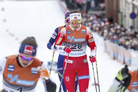 Det ble stopp i kvartfinalene for Tiril Udnes Weng i Drammen. Foto: Terje Bendiksby / NTB scanpix