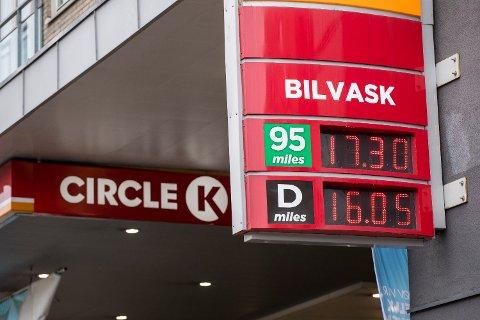 DYR: Bensinprisen på Circle K  er historisk høy.