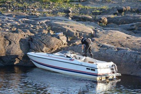 FUNNET: Båten ble funnet i god behold etter at den ble stjålet fra båtplassen tirsdag kveld.