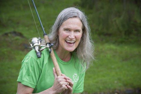 Uten åte: Ragnhild Haagenrud Moen har ikke til hensikt å lure noen med åte på stemmefiske. FOTO: JENS HAUGEN