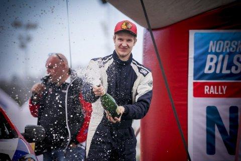 Lars Martin Stensbøl, her fra seieren på Rally Sørland i fjor.