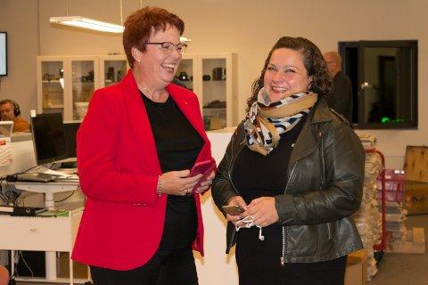 NY TOPPDUO: Elin Såheim Bjørkli (Ap, til venstre) og Margrethe Haarr (Sp) kan fort bli Kongsvingers neste ordfører og varaordfører de kommende fire årene. FOTO: PER HÅKON PETTERSEN