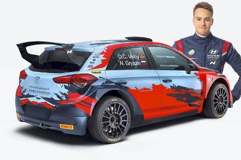 Blir fabrikkfører: Ole Christian Veiby skal kjøre en full sesong i WRC 2 for Hyundai. FOTO: HyUNDAi MOTORSPORT