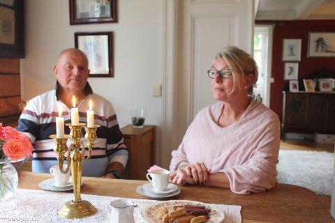 Harald og Maria Hansen hjemme på Berger.
