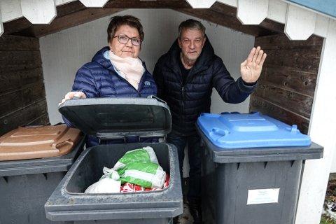 IKKE BRA: – Vi krever full oversikt over hvorfor og hva som har ført til at det blir nødvendig med så stor avgiftsøkning, sier Hilde Riseng og Svein Arne Konterud i Folkelista i Våler.