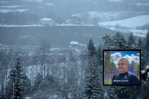 VOLDSOMT POLITIOPPBUD: Jan Myhrvold våknet til strømbrudd og beskjed om å koke vannet. Huset hans ligger bare tusen meter fra det rasutsatte området. Han beskriver et voldsomt politi- og ambulanseoppbud på stedet.