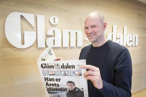 Ansvarlig redaktør og daglig leder Thor Sørum-Johansen i Glåmdalen.