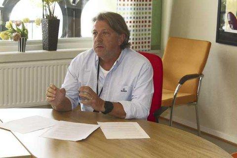 FORTGANG: Sigbjørn Sæther, leder for eiendomsavdelingen i Grue, har nå overtatt prosjektet med ny brannstasjon i Grue.
