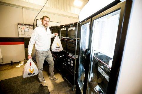 STOR VEKST: Karl Alveng Munthe-Kaas og matleveringstjenesten Kolonial har den siste tiden opplevd økt vekst. På fredag var kapasiteten sprengt.