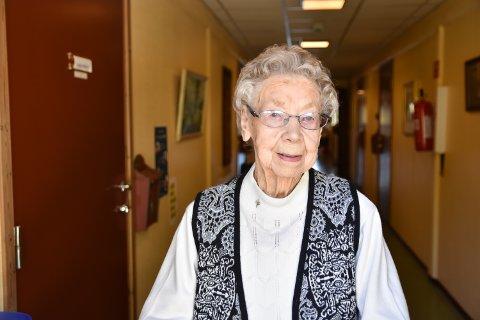 ELDST: Gudrun Nymoen er særdeles sprek og rynkefri - spesielt med tanke på at hun er Norges eldste person.
