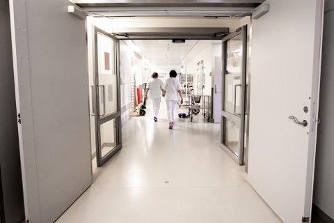 KORONA-FLØY: Inne på denne avdelingen ligger flertallet av pasientene som er blitt smittet med korona på Ahus.