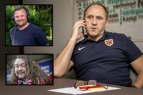 Patrick Holtet (oppe til venstre), Thomas Ramstad (nede til venstre) og Vidar Sanderud har alle samme mening om den nye superligaen som har blitt etablert.