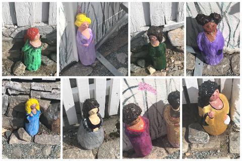 Disse skulpturene dukket opp i løkkegata i Øvrebyen. – Dette er veldig hyggelig, sier Rolv Rynning Hanssen.