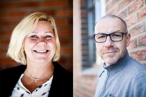 VIL HA SAMME JOBB: Både Anita Orlund og Tom Staahle ønsker jobben som ny kommunedirektør i Sør-Odal.