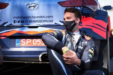 TESTET POSITIVT: Ole Christian Veiby. (Foto: Hyundai Motorsport GmbH)
