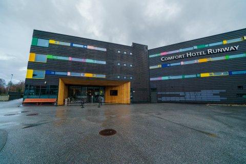 UTBRUDD: Seks ansatte fikk påvist det indiske mutantviruset på Comfort Hotel Runway på Gardermoen. Foto: Stian Lysberg Solum / NTB scanpix