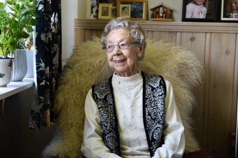 NORGES ELDSTE ER DØD: Gudrun Nymoen fra Osen ble 110 år gammel. Torsdag døde hun.