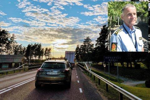Slik så det ut på svenskegrensa ut tirsdag 3. august.