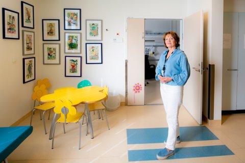 KAN TA IMOT FLERE: Her ved barne- og ungdomsklinikken på Ahus er klinikkdirektør Kirsten Haugland forberedt på at de får flere innleggelser de neste månedene.