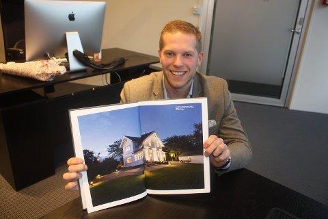 IKKE OPPLEVD FØR: Eiendomsmegler Christoffer Ryan i Hjem Eiendomsmegling sier han selv aldri har opplevd dette tidligere - kun hørt om ett tilfelle forut. Dette er et arkivbilde og huset i prospektet på bildet er ikke den boligen som ble omtales i saken.